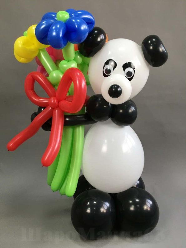 панда из шаров