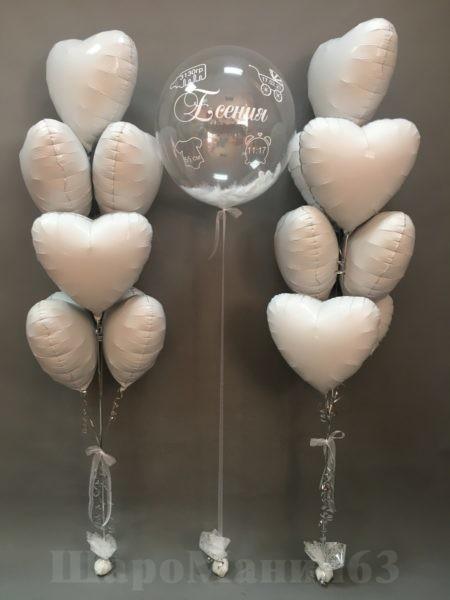 украшение комнаты шарами на выписку