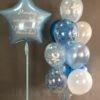 оформление шарами выписки из роддома